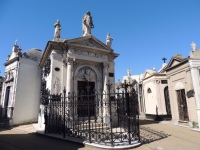 One of the mausoleums in Recoleta's vast cemetery.