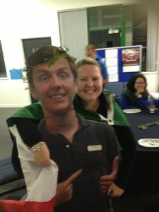 Apparently I have continued to be a fixture at staff functions, I can hardly blame them...