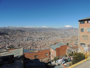 Looking over beautiful La Paz from El Alto.