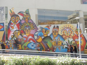 Street art in Plaza San Francisco, La Paz.