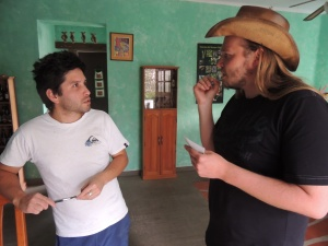 Eikka talks to our Chileno master brewer.